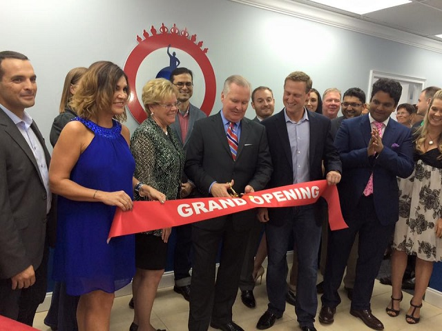 John DeGirolamo Grand Opening With Mayor